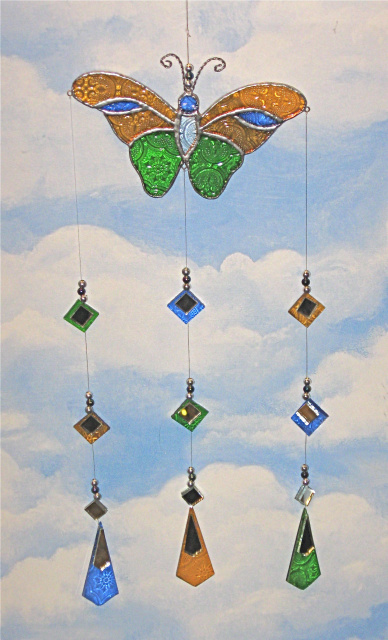 Glass Mobile Butterfly