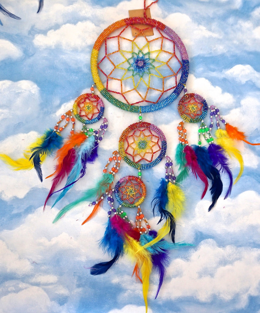Dream Catcher Multi-colored fully beaded