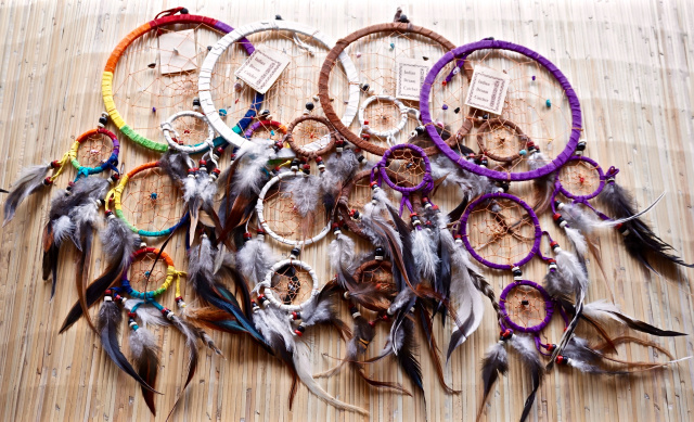 Leather Dream Catcher 4""