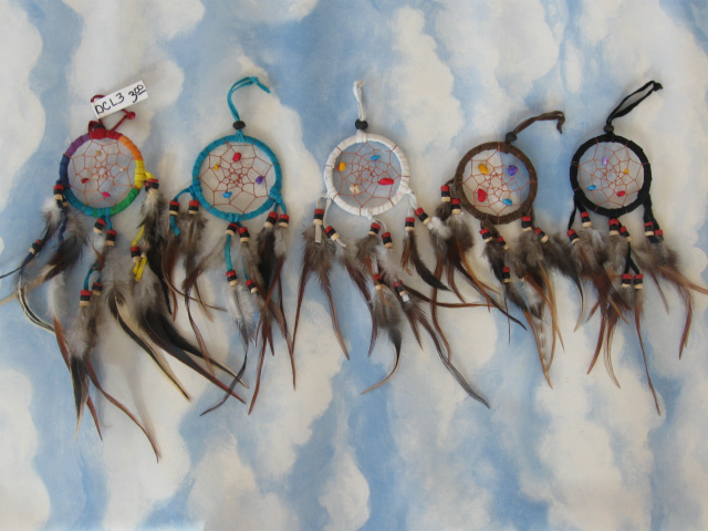 Leather Dream Catcher 3""