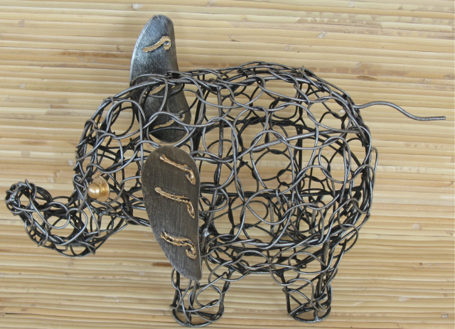 Metal Wire Elephant Sm.
