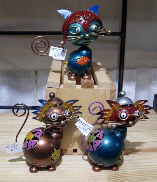 METAL WHIMSICAL CATS 6